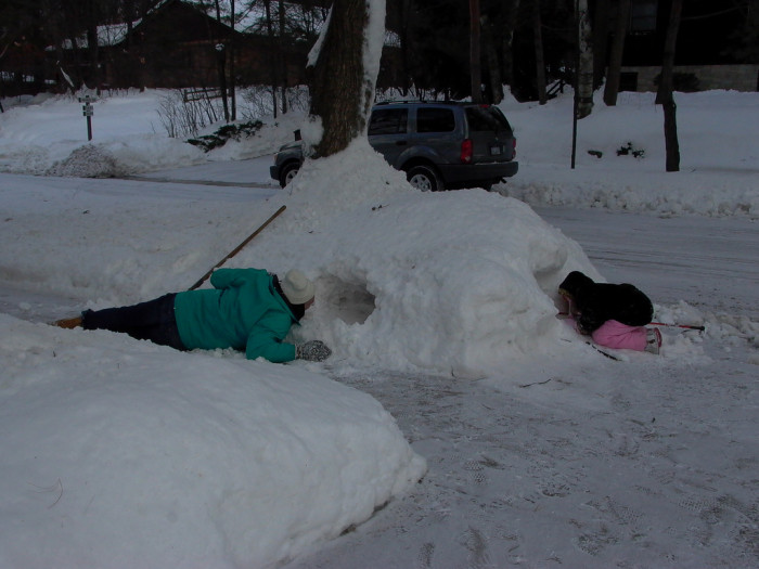 2. And shoveling the snow starts to feel like a never-ending task.