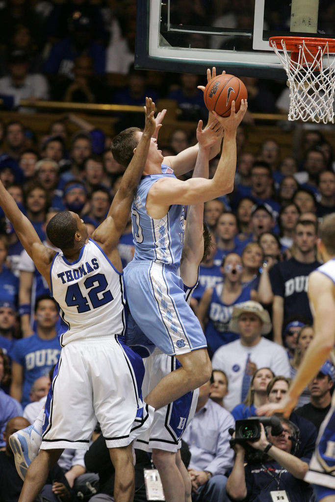 3. And a rivalry that is seriously unlike any others. 'It's not just basketball, it's Carolina V Duke.'