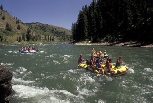 9. White Water Rafting The Snake River