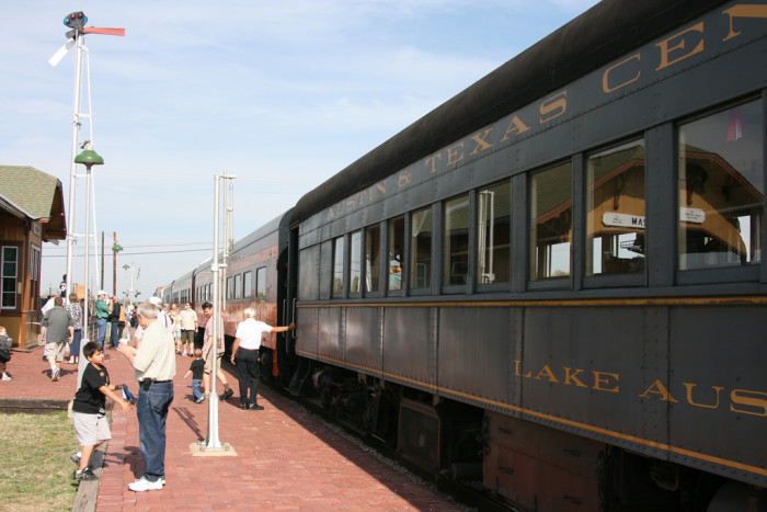 13. Go on an adventure with the kids at the Austin Steam Train Association.