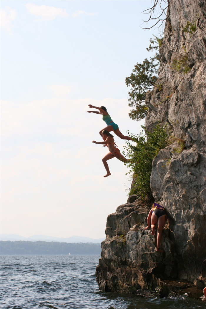 9.  Cliff jumping.