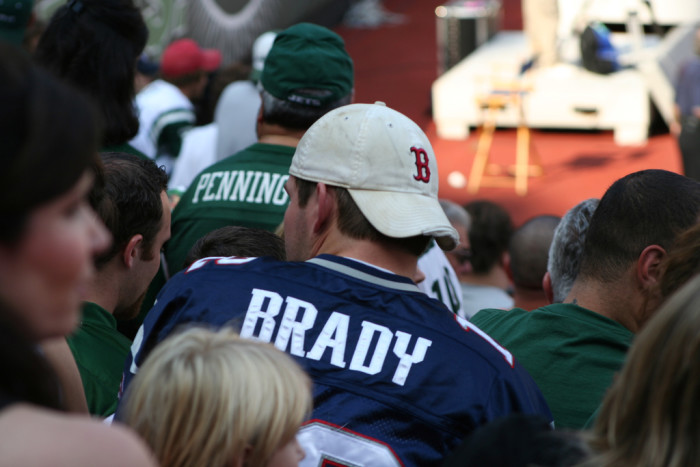 1. When you can't decide between wearing your Brady or Gronk jersey to the game.