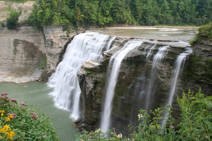 The most popular to visit out of the three waterfalls, the Middle Falls are often viewed during warmer months via hot air balloon.