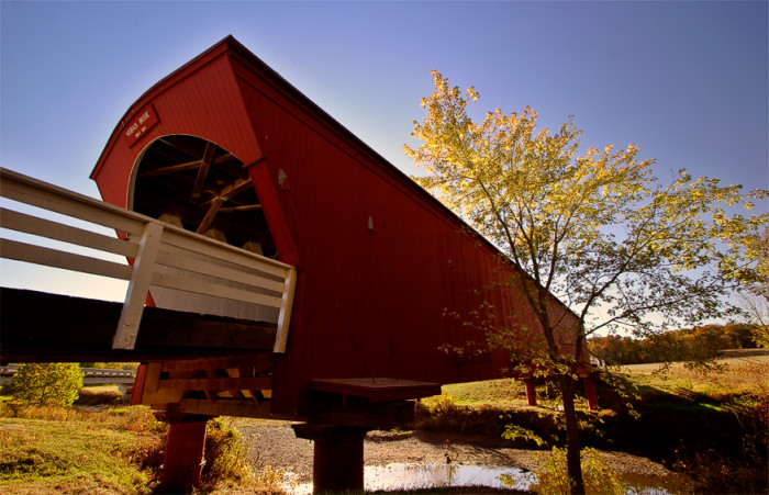 2. Take a tour of the Bridges of Madison County, and don't forget to pack a picnic!