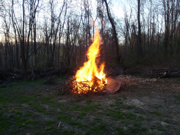 5. We sat in chairs or on the tailgates of pickup trucks around blazing bonfires, or for a party in a field.