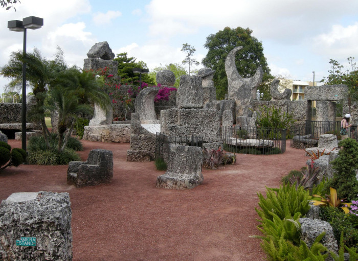 2. Coral Castle in Homestead was built by one small man, using only basic tools. He claimed to know ancient secrets that helped him move the multi-ton stones.