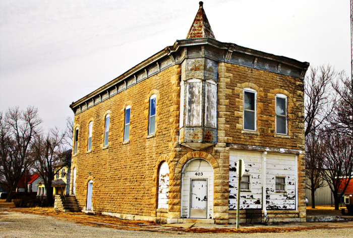"""4. """"The Old Theatre. (Standing in the tiny town of Allen, Kansas.)"""""""
