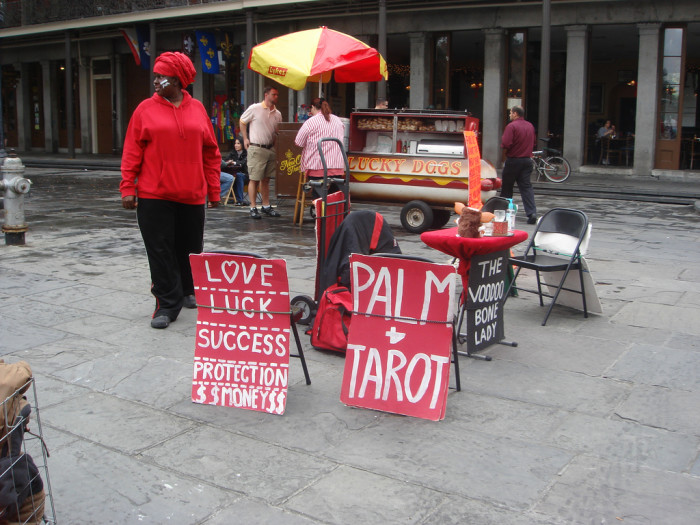 16) Get Your Palm Read in Jackson Square