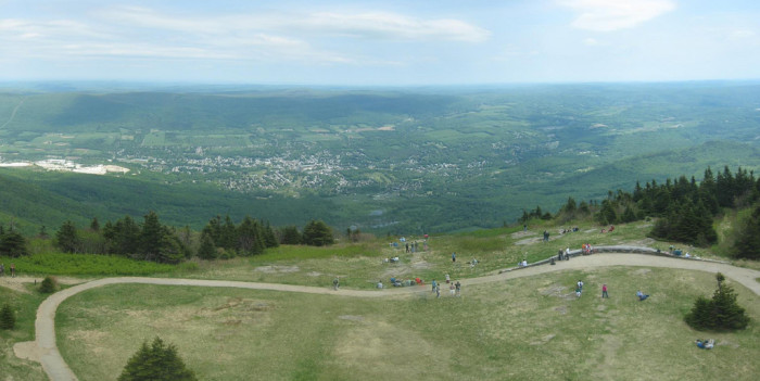 11. Seriously...the Mt. Greylock summit is waaaaaaay up there.