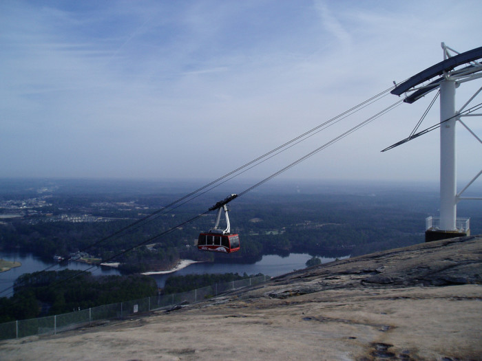 6. Ride the tram at Stone Mountain Park.