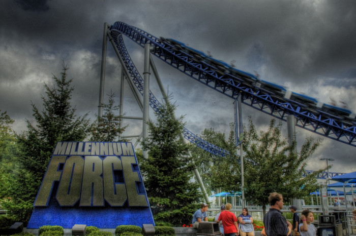 8. Roller coasters