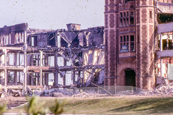 4. Demolition of LA High after the earthquake of February 1971. Pictured here in April 1971.
