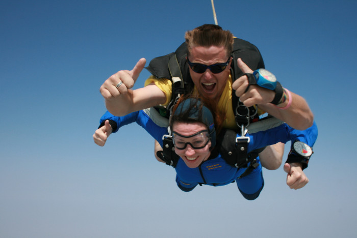 1. Skydiving