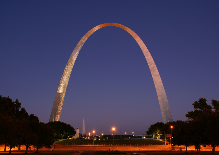 37. Gateway Arch, Missouri. At 630 feet, this is the tallest arch in the world.