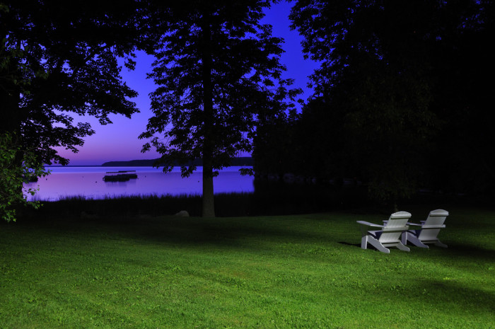 3.  The blue hour.