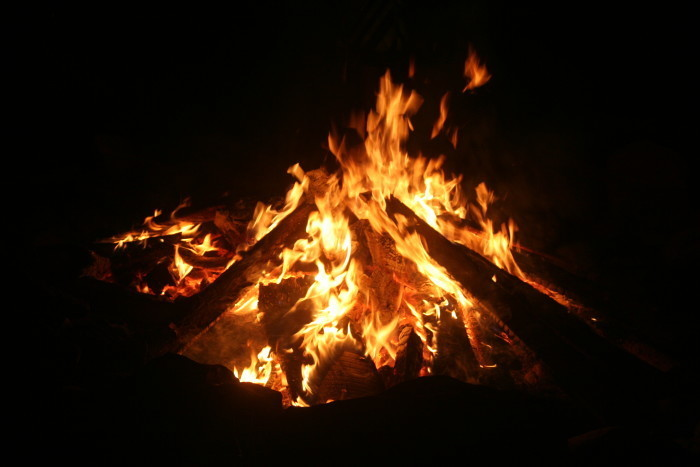 12. Have a big bonfire and make some s'mores.