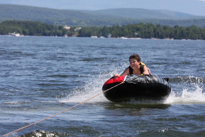 15.  Go tubing on Lake Champlain.