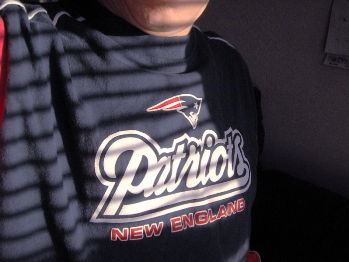 4. Is the person in question wearing Patriots apparel...