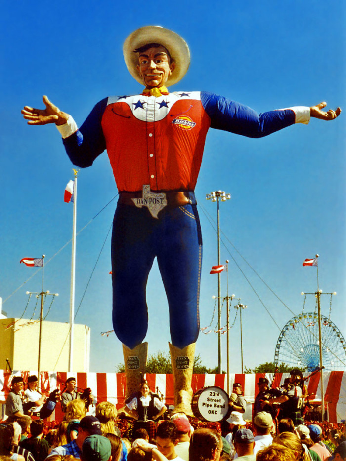 11. If they wonder why a creepy cowboy is guarding the state fair...