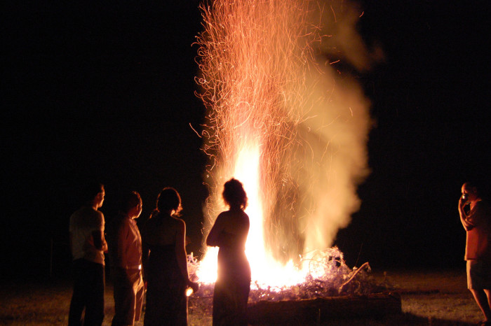 16. Roaring bonfires