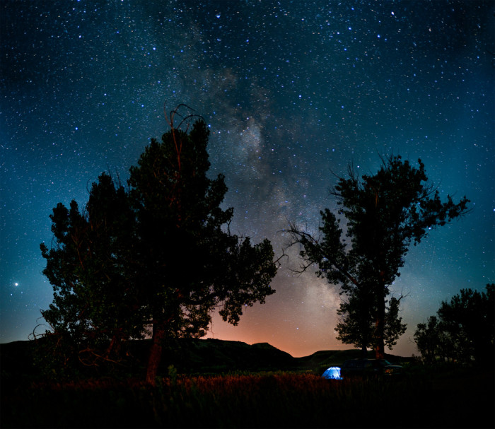 2. All of this wide-open space and low light pollution creates the perfect place to stargaze.