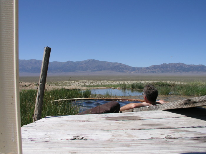 4. Relax in one of Nevada's many hot springs.
