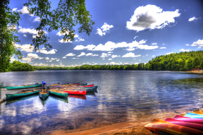 6. Cochituate Lake in Cochituate State Park, Massachusetts.