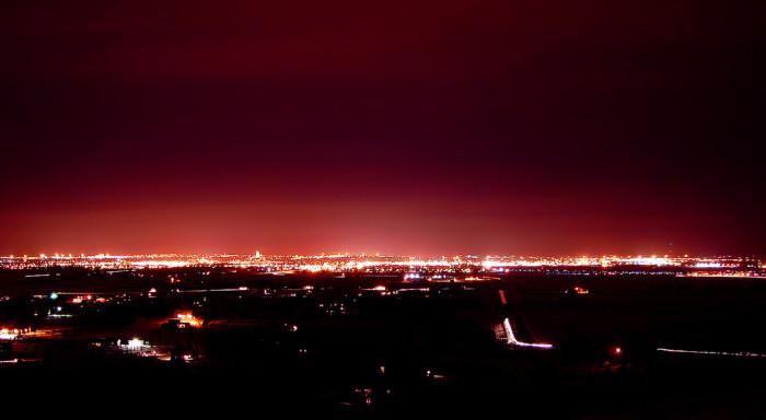 1. A glowing shot of Bismarck on the horizon.