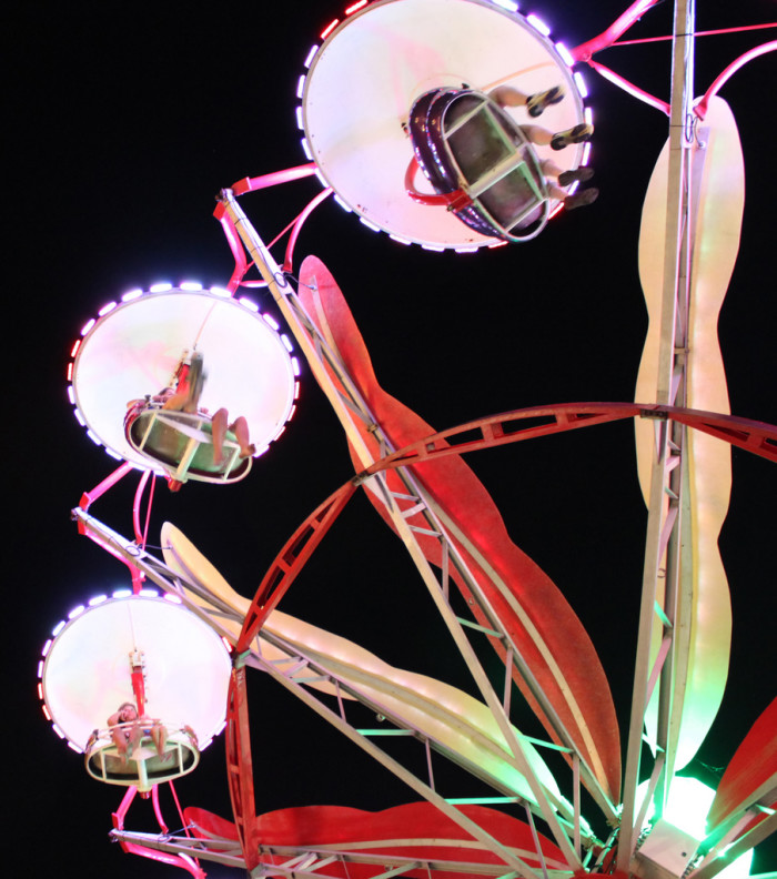 9. Summer fun aboard the paratrooper ride at Funland on the Rehoboth Beach Boardwalk