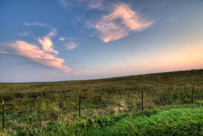 1. The openness of the prairie.