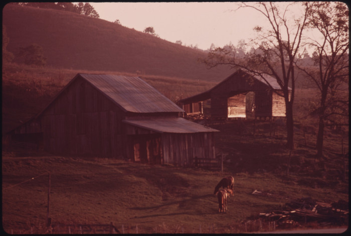 3. Early morning light shines on this beautiful farm in Claypool Hill, circa 1974.
