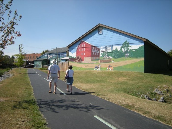 17. ...to a mural-lined greenway...