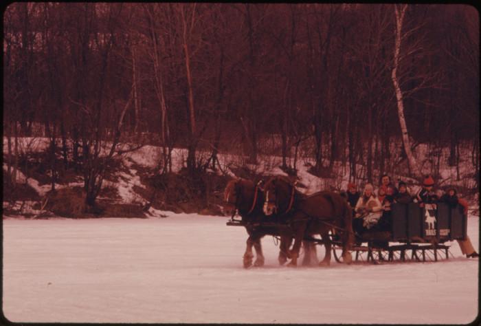 9.  Sleigh ride in February 1974