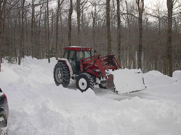 10. Whenever it snowed, you probably had a full day off of school, because the kids who lived way outside of town didn't get their roads plowed by the Department of Transportation for hours (even though someone probably already plowed the road with a tractor).