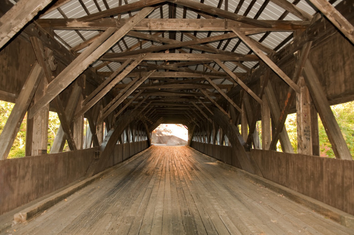 3. The bones of this covered bridge are on display.