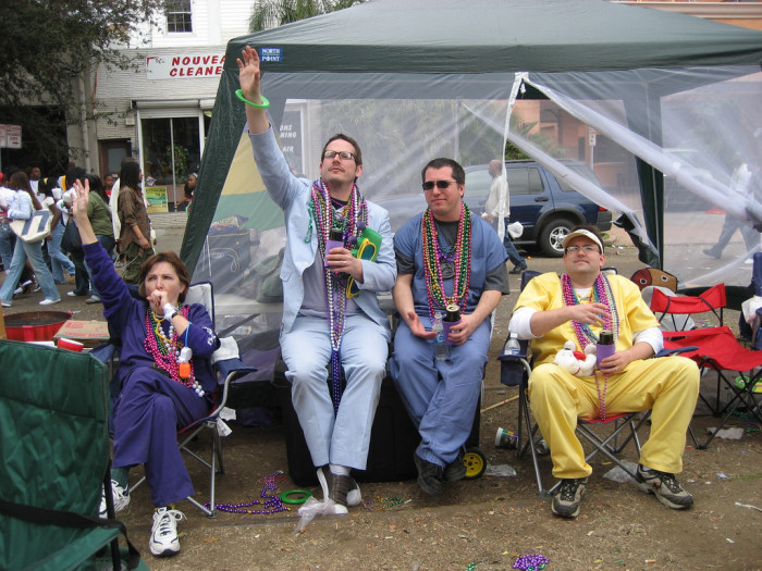 7) Stay Up All Night on Lundi Gras and Make it Past Noon on Mardi Gras
