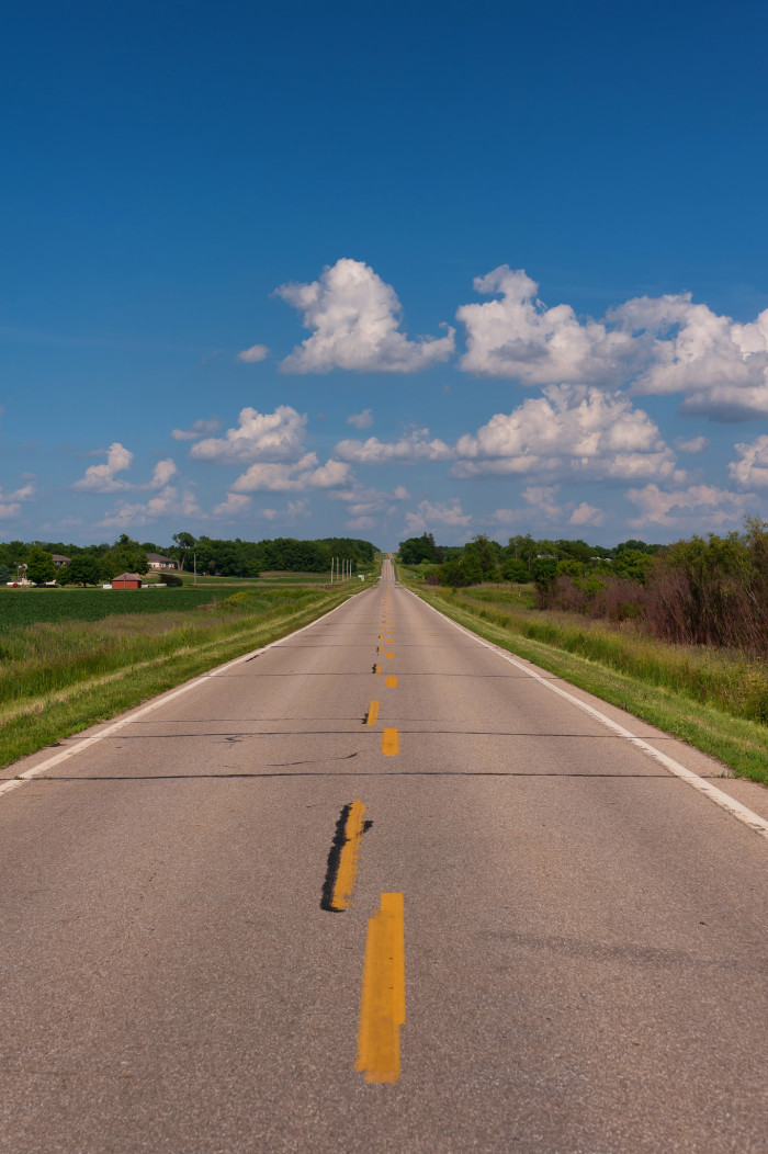 3. Get in the car and take a scenic cruise while admiring the simple beauty of the Iowa landscape.