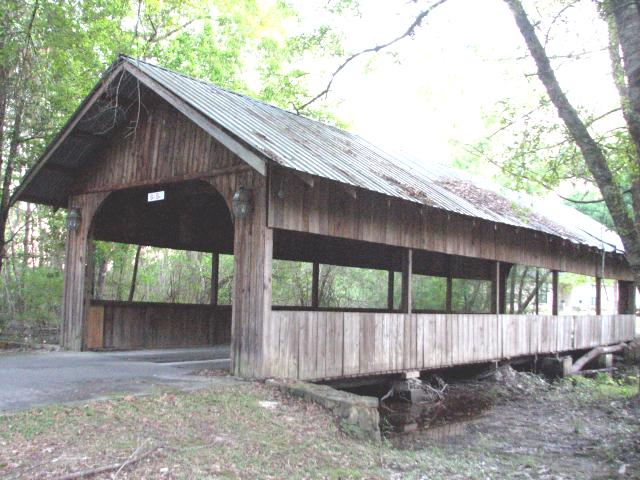 4. This 54' bridge is located in Carriere's Covered Bridge Cove community.