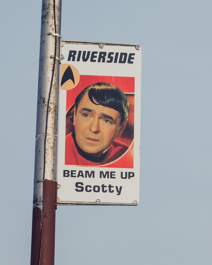 """As legend has it, Riverside city councilman (and trekkie) Steve Miller proposed a proclamation that the town be named the future birthplace of Kirk, based on Star Trek creator Gene Roddenberry establishing Iowa as the state of our captain's birth in his 1968 book """"The Making of Star Trek."""""""
