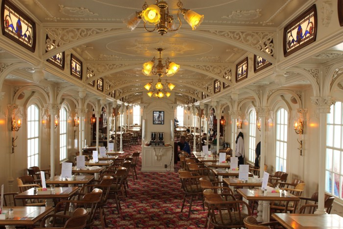 One low fare covers all your meals and snacks (served in the lovely dining area shown below), as well as your entertainment, activities, and accommodations. If you do the two-day cruise you will stay at the Grand Harbor waterpark resort in Dubuque.