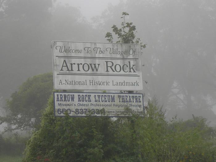 4. Arrow Rock Sign