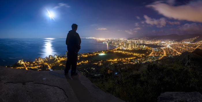 4. Go for a hike in the middle of the night, by the light of the full moon.