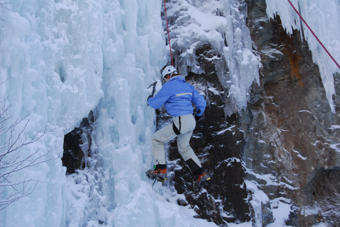 10.  Ice climb.