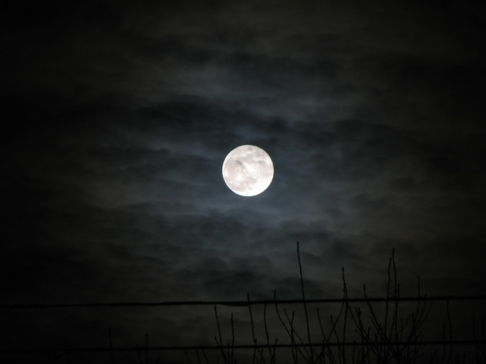 4. The spooky, cloudy full moon captured in this shot taken near Bismarck.