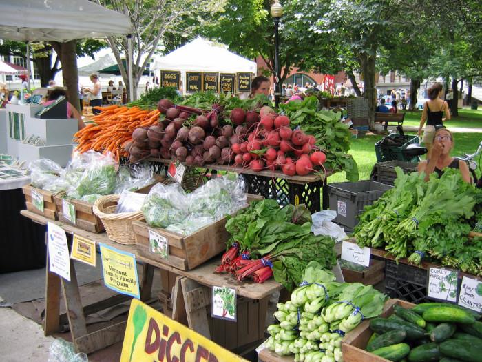 Burlington Farmer's Market.