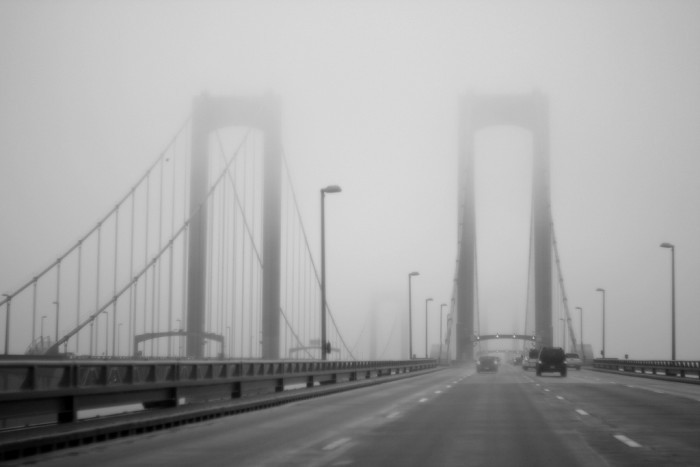 10. For some, the Delaware Memorial Bridge is creepy to cross even when it's a perfectly sunny day. The fog on this day must have meant for a scary drive for some.