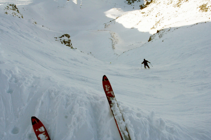 8. The view from Corbet's Couloir, known as one of the world's most terrifying ski slopes.