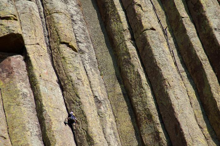 7. Climbing Devils Tower