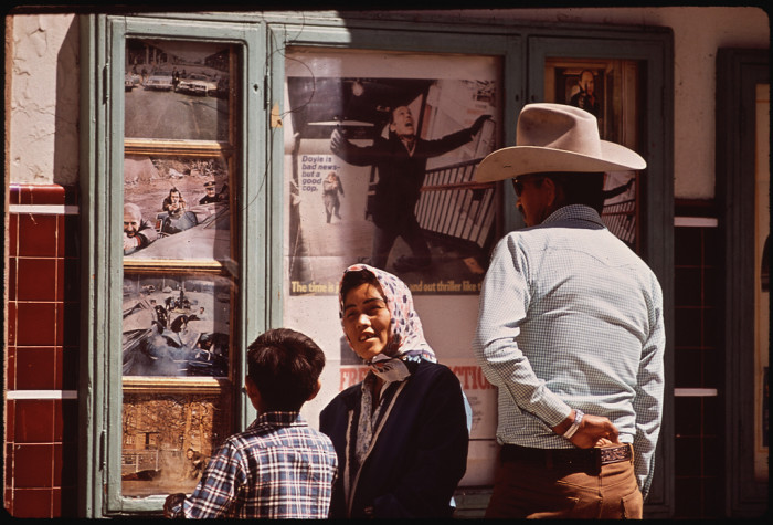 16. This Navajo family enjoys a Saturday morning of shopping in Window Rock.