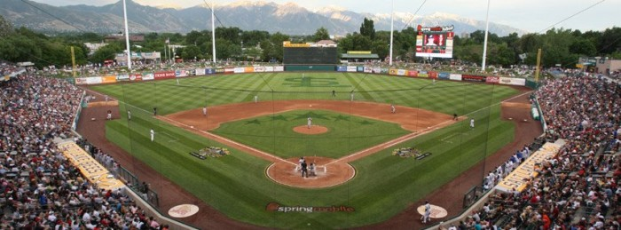 8. Cheer for the Salt Lake Bees at Smith's Ballpark in the afternoon.